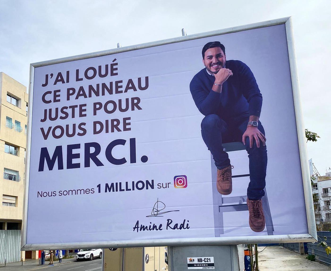 L'humoriste marocain Amine Radi compte plus de 3 millions d'abonnés sur la Toile.