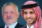 Le roi Abdallah de Jordanie et son demi-frère le prince Hamza.