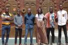 De gauche à droite: Mesmer Ndienang Dapabko, Yela Jovin Mbongui Bikedi, Achille Eklou Komla Segbedji, Aminata Carine Sori Kra, Soke Koffi Hougnibo et Léopold Goutsop.