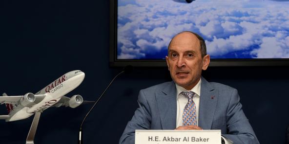 Akbar Al Baker, PDG de Qatar Airways, en juin 2019, à l'aéroport du Bourget, près de Paris