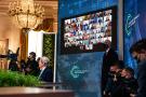 Joe Biden lors du sommet sur le climat, à Washington, le 23 avril 2021.