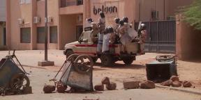 Intervention de la police anti-émeute à Niamey, le 24 février 2021 à Niamey (illustration)