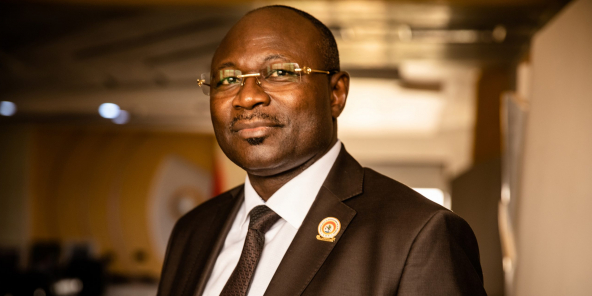 Eddie Komboigo, président du Congrès pour la démocratie et le progrès (CDP).