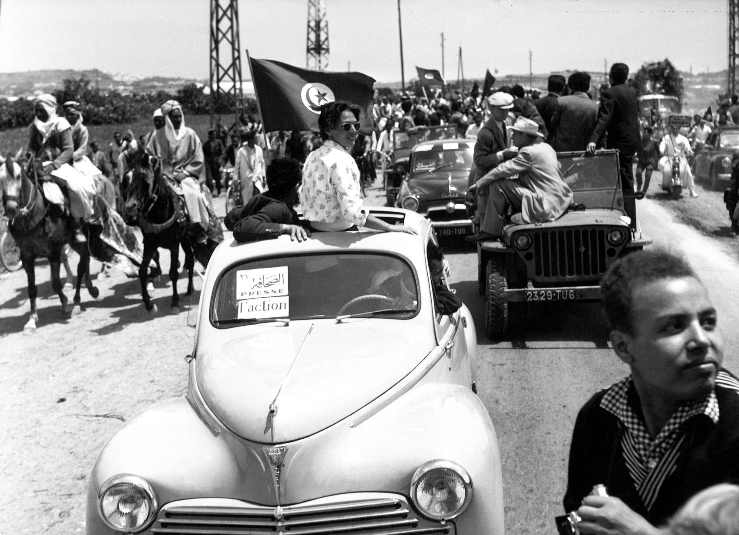 Retour triomphal de Bourguiba à Tunis, le 1er Juin 1955, et le succès du journal L'Action.