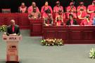 Lors du VIIe Congrès extraordinaire  du MPLA, à Luanda, le 15 juin 2019.