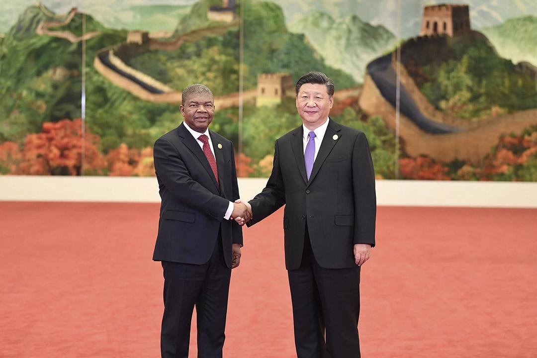 João Lourenço e Xi Jinping no Fórum de Cooperação China-África em Pequim, 3 de setembro de 2018.