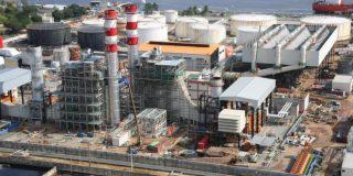 Images d'illustration de la centrale électrique Ciprel IV à Abidjan.