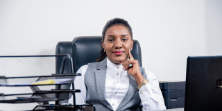 Tatiana Nguya, membre fondatrice du Congrès international congolais (CIC) et directrice de Kwetu Business Corporate.