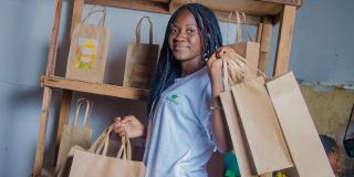 Dorcas Mubembe, directrice et fondatrice d'Éco Plus.