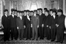 Premier gouvernement de l'Indépendance, le 15 avril 1956, à Carthage.