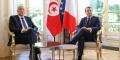 Kaïs Saïed et Emmanuel Macron à l'Élysée, le 22 juin 2020.