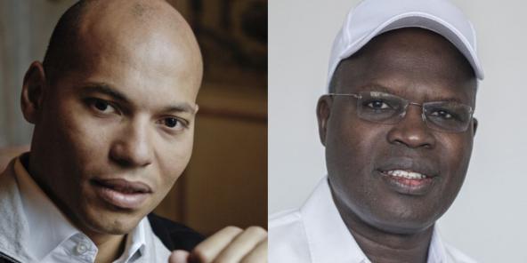Karim Wade (g.) et Khalifa Sall pourront-ils être candidats aux prochaines élections locales au Sénégal ?