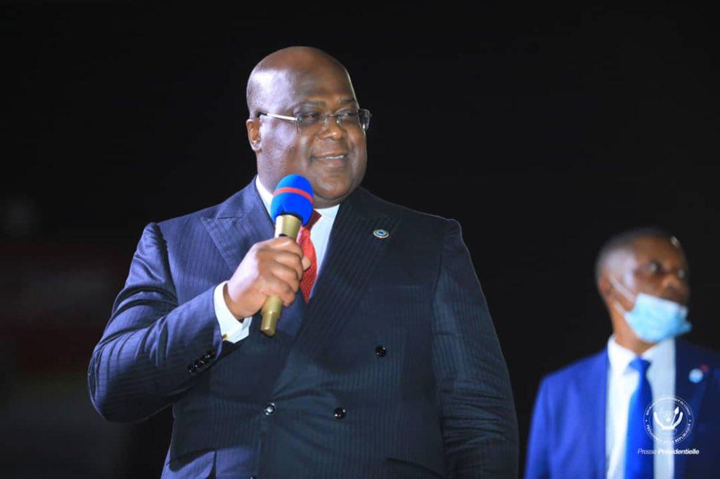 Félix Tshisekedi à Lubumbashi, le 12 mai 2021.