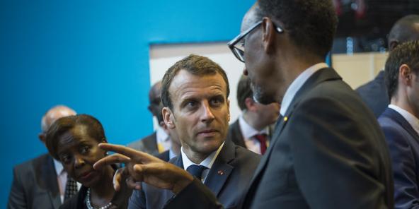 Le président Kagame et le président Macron assistent à VivaTech. Paris, le 24 mai 2018.
