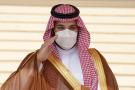 Le prince héritier saoudien Mohammed ben Salmane à l'aéroport international de Riyad, en Arabie saoudite, le 31 mars 2021.
