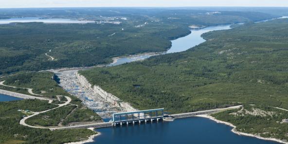 Aménagement hydroélectrique Robert-Bourassa, dans le nord du Québec.