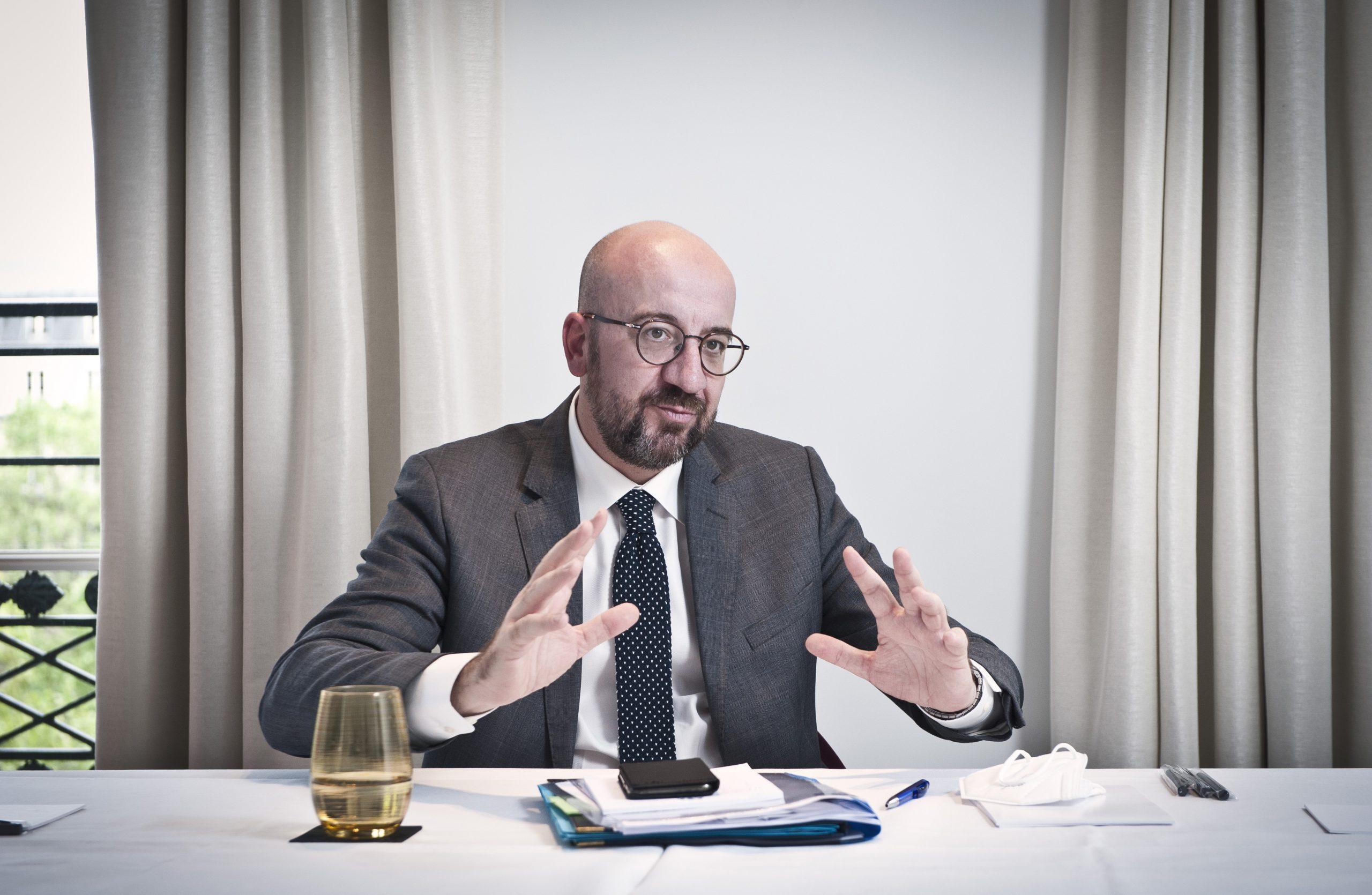 Charles Michel est président du Conseil européen depuis le 1ᵉʳ décembre 2019. Ici à Paris, le 17 mai 2021.