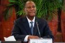 Le président ivoirien Alassane Ouattara, le 7 avril 2021.