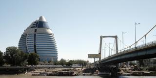 Vue du Corinthia Hotel, à Khartoum.