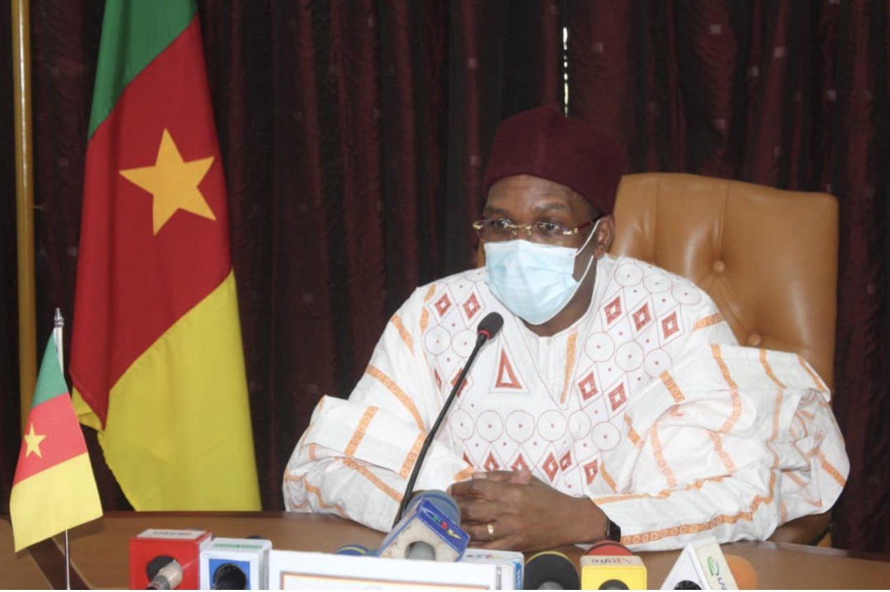 Malachie Manaouda, ministre camerounais de la Santé publique, le 31 mars 2021 dans son bureau.
