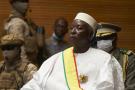 Le président Bah N'Daw, lors de sa cérémonie d'investiture à Bamako, le 25 septembre 2020. Il a été choisi pour diriger un gouvernement de transition après le coup d'État perpétré par les forces armées maliennes en août 2020.
