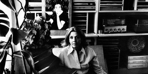 L'avocate Gisele Halimi a Paris en 1977.