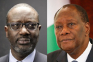 Tidjane Thiam et Alassane Ouattara.