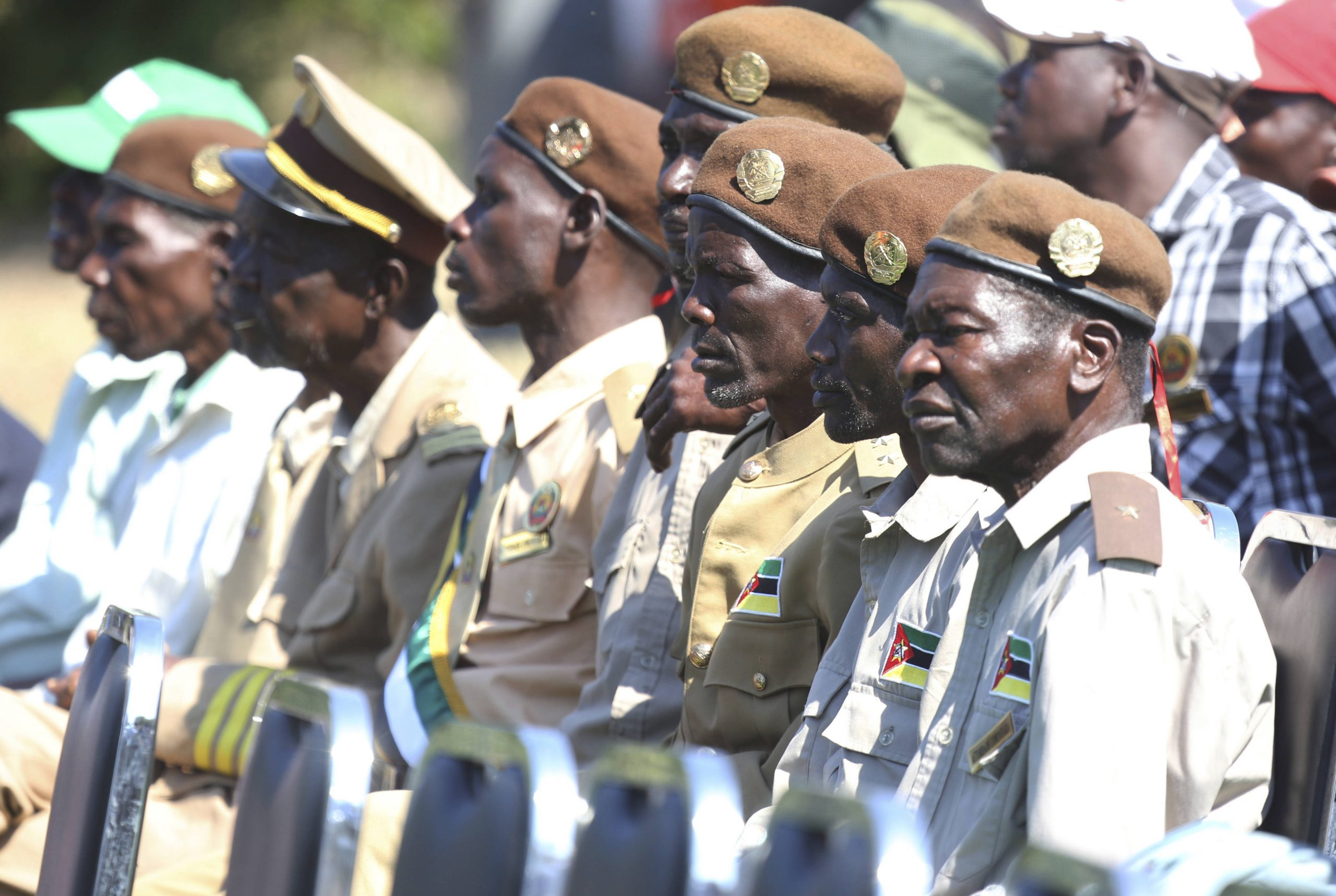 Anciens combattants de la Renamo, le 1 août 2019, lors de la signature de l'accord de paix avec le Frelimo.
