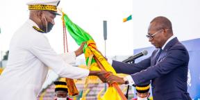 Patrice Talon, lors de son investiture pour un second mandat, e dimanche 23 mai 2021 à Porto-Novo.