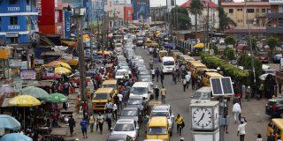 """Si tu te crois fort, viens à Lagos. Tu verras."" La capitale du Nigeria, le 26 octobre 2020."