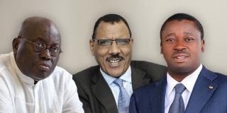 Nana Akufo-Addo (Ghana), Mohamed Bazoum (Niger) et Faure Gnassingbé (Togo).