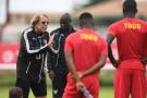 Claude Le Roy, alors entraîneur de l'équipe du Togo, à Port-Gentil, en 2017