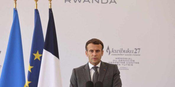 Emmanuel Macron, au Mémorial Gisozi de Kigali, le 27 mai 2021.