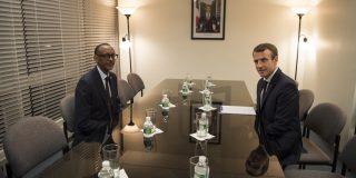 Le président Kagame a des entretiens bilatéraux avec le président français, Emmanuel Macron, à New York, le 18 septembre 2017.
