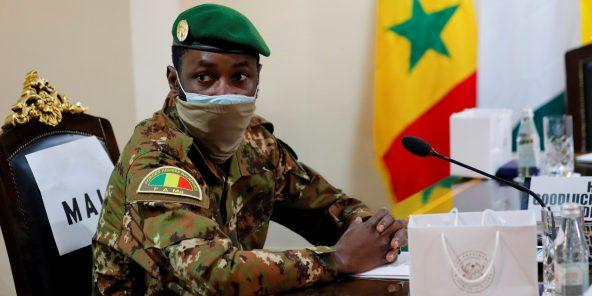 Assimi Goïta, le 15 septembre à Accra.