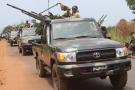 Une patrouille des FACA,  le 14 mars 2021 à Bangui (illustration).