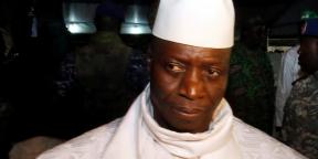 L'ancien président gambien Yahya Jammeh à Banjul, en novembre 2016.