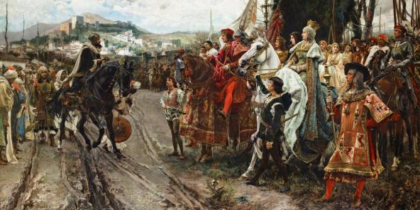 La capitulation de Grenade, en 1882, peinture de Francisco Pradilla y Ortiz (1848-1921).