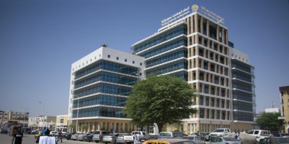 Le siège de la Banque nationale de Mauritanie, à Nouakchott.