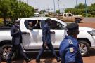 Assimi Goïta, lors de son retour à Bamako le 31 mai 2021, après sa visite à Accra où se tenait le sommet extraordinaire de la Cedeao sur la situation au Mali.