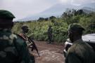 Soldats congolais près du village de Kibumba, près de Goma, en février 2021.