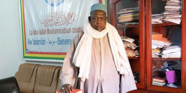 Mahmoud Dicko à Bamako, en décembre 2017.