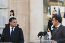 Le Premier ministre libyen Abdulhamid al-Dabaiba et le président français Emmanuel Macron, le 1er juin à Paris.