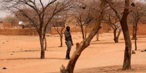 Un soldat burkinabè à Gorgadji, dans la région du Sahel, en mars 2019 (illustration).