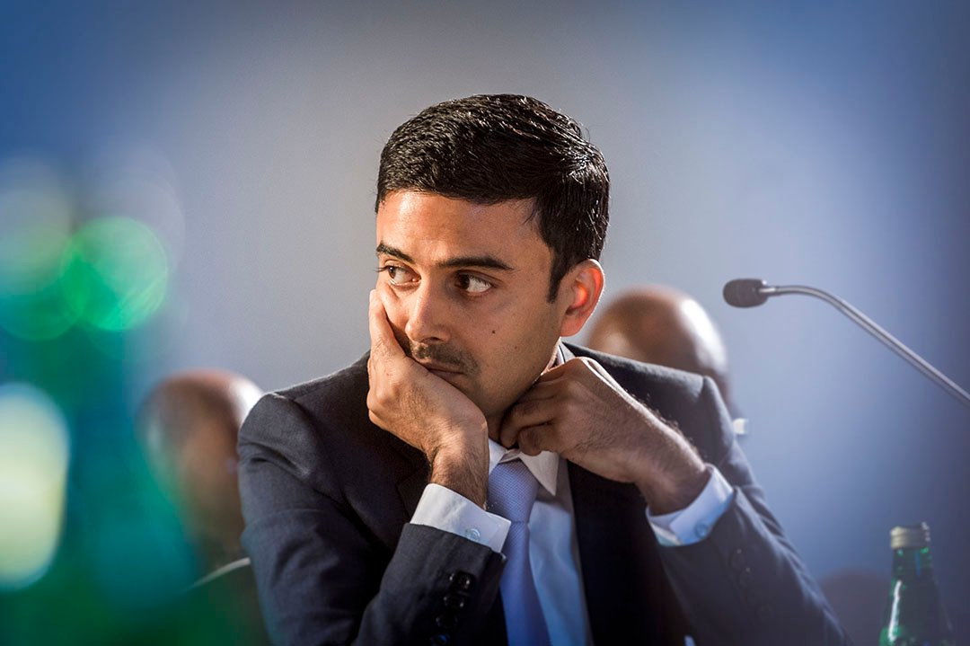 Gagan Gupta, directeur général d'Olam Gabon, lors de l'Africa CEO Forum 2016 à Abidjan.