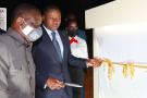 Faure Gnassingbè lors de l'inauguration de  la plateforme industrielle d'Adetikope, le 6 juin 2021.