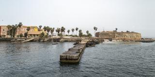 Lors du reportage sur l'île de Gorée à Dakar
