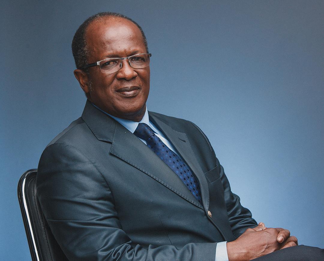 Georges-Armand Ouégnin, président d'Ensemble pour la démocratie et la souveraineté, à Abidjan le 11 mai 2017.