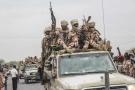 Des soldats tchadiens de retour à N'Djamena après des combats contre le Fact, le 9 mai 2021.