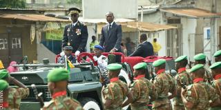 Le président Patrice Talon lors des célébrations du 56e anniversaire de l'indépendance du Bénin, le 1er août 2016.